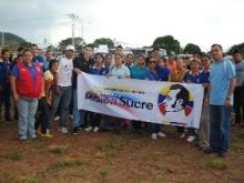 Estudiantes de Misión Sucre y Unefa junto al alcalde Gustavo Muñiz