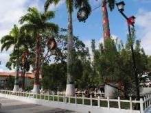 Plaza Bolívar de Upata decorada para dar inicio a la Navidad