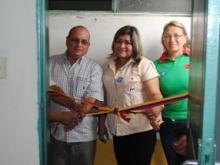 Se inauguraron cuatros salas de Baños en el liceo Andrés Bello de Los Rosos.