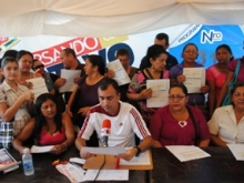 Voceros de los Consejos Comunales recibieron recursos de la Municipalidad.