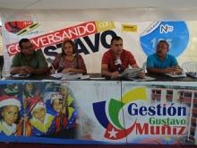 El alcalde Gustavo Muñiz en el programa Conversando con Gustavo