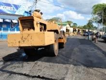 Continua el plan de Asfaltado en Avenida Bicentenario de Upata