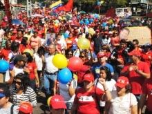 Upatenses participaron en caminata rindiendo homenaje al presidente Chávez