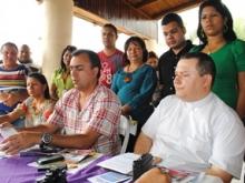 Alcalde Gustavo Muñiz ofreció una rueda de prensa para informó las actividades.