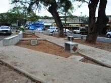Alcaldía construye Plaza en la avenida Bicentenario de Upata