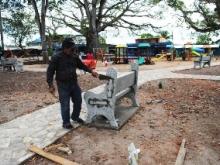Alcaldía de Piar realiza recuperación de la Plazoleta Bolívar