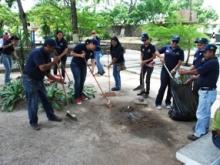 Todas las Direcciones de la Alcaldía participan en el plan de saneamiento de las plazas.