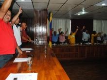 Presidente del CLPP, concejales y consejeros aprueban terreno para construcción de viviendas en Upata