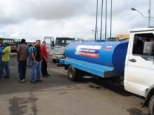 Mas de 30 camiones cisternas participaron el  plan de contingencia activado en Upata