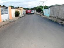 400 toneladas de asfalto se colocaron en la comunidad