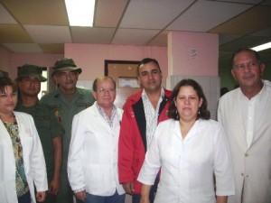 Médicos participantes en el operativo médico asistencial