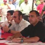 Alcalde de Piar Gustavo Muñiz y Alfredo Naim del Grupo Naitex