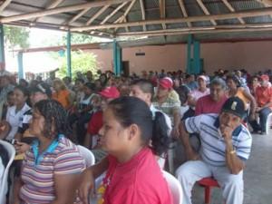 La población de El Manteco, participó en el acto de consulta del presupuesto municipal.