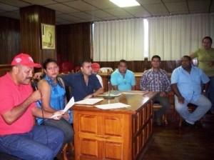 El alcalde Gustavo Muñiz presidio el acto junto a la coordinadora Estadal del Fondas Yolimar Rodríguez, el comisionado del gobernador en Piar Angel Figueroa.