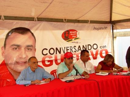 """El alcalde Gustavo Muñiz """"estamos dignificando los sectores de Piar"""""""
