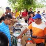 Se expendió 5 toneladas de alimentos en el sector 23 de Enero