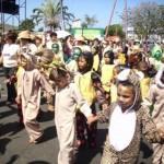 Los niños protagonizaron el desfile