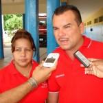 Arsenio González Director General de la Alcaldía de Piar y Ornela Arbelaéz candidata a diputada por el PSUV.
