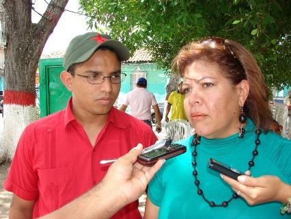 esús Alacayo, Coordinador de Planes Estratégicos de la Gobernación del Estado Bolívar y Zulay Ruiz, Coordinadora de Participación Popular de la Alcaldía de Piar.