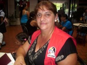 Coordinadora de la Misión Sucre  en Piar Zandra Sorabella