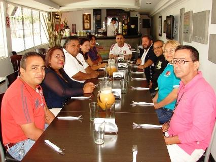 El alcalde Gustavo Muñiz agasajó a los Periodistas de Upata.