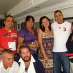 Periodistas y reporteros gráficos del municipio Piar junto al alcalde de Piar Gustavo Muñiz