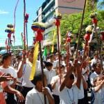 Mas de Ochocientos Niños participaron en el desfile de los Caballitos de San Juan.