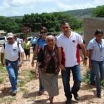 El Alcalde Muñiz inspeccionó el lugar donde se construirá pozo profundo en El Salto
