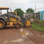 Fundación Yocoima realiza limpieza y profundización de los drenajes