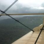 El mal tiempo nublado no permitió realizar la jornada social en El Plomo (foto tomada vía aérea)