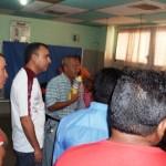 El alcalde Gustavo Muñiz inspeccionó las habitaciones