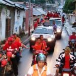 La candidata hizo recorrido por diferentes calles y avenidas de Upata