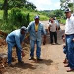 El alcalde Muñiz realizó recorrido en Altagracia dando inicio al Asfaltado