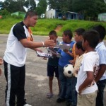 Los niños y jóvenes participaron en juegos deportivos