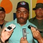 El Comisario Alexis López, director de la Policía Municipal de Piar.