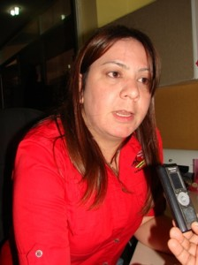 La Licenciada María Alejandra Moreno Directora de Hacienda Municipal de Piar.