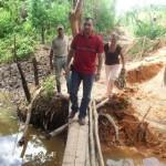 Gustavo Muñiz inspeccionó los trabajos e invierte 185 mil bolívares en la construcción