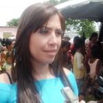 Primera Dama y presidenta de la Fundación Social Piar Zulny Bonalde de Muñiz