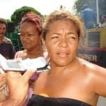 Nancy Fuentes habitante de la comunidad