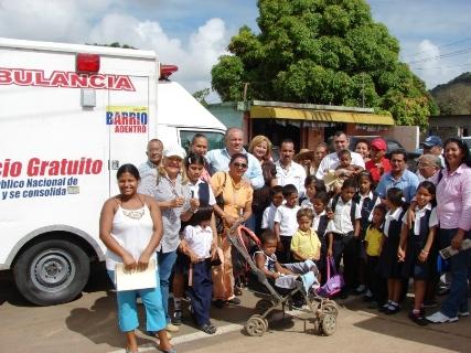 Ambulancia dotada por el Min-Salud para el CDI Coviaguard de Upata