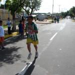 Los  estudiantes del Municipio Piar participaron masivamente en el maratón.