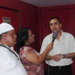 El alcalde Gustavo Muñiz al ser entrevistado por moderadores del Programa Noti Gaitas.