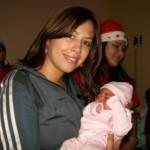 Zulny Bonalde de Muñiz en la visita al Hospital de Upata.