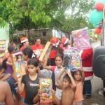 Los niños de sectores rurales desbordaron sonrisas y alegrías