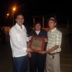 El alcalde Muñiz y la Comandante Arveláez entregaron reconocimientos a personal del Cuerpo de Bomberos