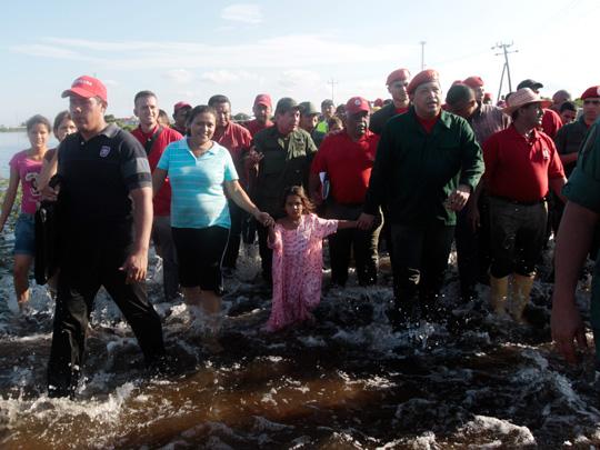 Presidente Hugo Chavez recorre el Estado Zulia