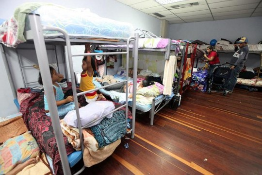 Refugio habilitado por el Gobierno Bolivariano