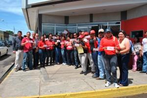 Psuvistas de Piar depositaron un día de salario por la Revolución