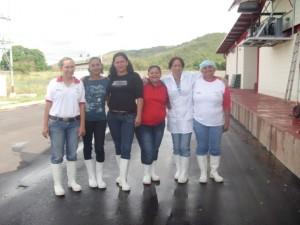 Madres trabajadoras de la Planta Láctea beneficiarias  e integrantes de la Comuna Cacique del Yocoima