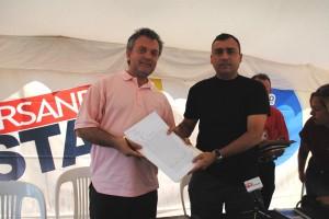Alcalde Muñiz hizo entrega de la Sede en Comodato al presidente de Fosjiu Francisco Ces